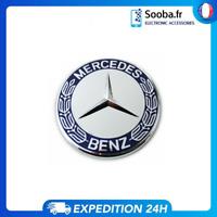 Logo Capot Mercedes Benz GRIS BLEU 57mm Emblème Insigne Remplacement