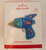 Hallmark Captain Nello's Ray Gun 2013 Ornament Magic  Light Sound Keepsake New