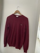 Genuine Mens Lacoste Crew neck pullover/Jumper 100% wool size 3 / Small Devanlay