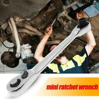 1/4 inch Mini 72 Tooth Ratchet Wrench CR-V Socket Spanner Car Hand Repair Tool