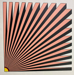 Brian Rice Colossal 1968 Signed Limited Edition Silkscreen OP Art