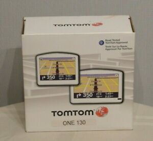 NEW TomTom ONE 130S Portable Car GPS Set in Box Text-to-Speech US/Canada Map 130