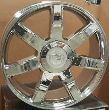 "22"" Wheels Cadillac Escalade 7 spoke Rims Chrome Factory Style 24 EXT Tahoe GMC"