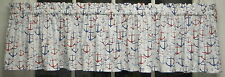 BEAUTIFUL RED & BLUE ANCHORS VALANCE CURTAIN   FREE SHIP!