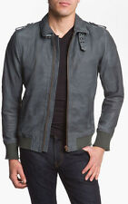 Diesel Lacco Leather Jacket in Gray, size L, $798