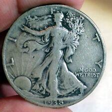 1938-D Walking Liberty Half Dollar..Fine Coin #250