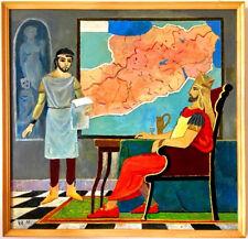 Orig. ARMENIA KING Tigranes Great TIGRAN Art Painting RUSSIAN ARMENIAN Artist KH