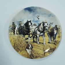 WEDGWOOD WORKING HORSES THROUGH THE SEASON PLATE THE HARVESTER M G GREENSMITH