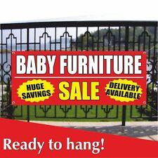 Baby Furniture Banner Vinyl Mesh Banner Sign Huge Savings Sale Delivery