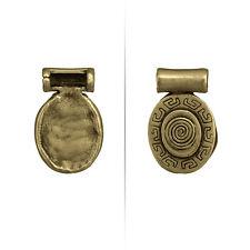 Aztec Swirl laiton antique OVALE METAL Pendentif 25 mm Pack de 1 (N75/6)