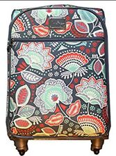 """Vera Bradley 22"""" Spinner Rolling Luggage Nomadic Floral Carry On Suitcase NWT"""