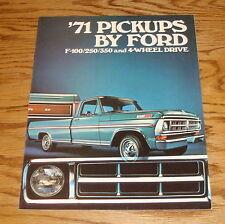 Original 1971 Ford Pickup Sales Brochure 71 F-100 F-250 F-350
