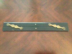 Vintage ebony and brass 2 Hinge parallel ruler