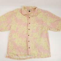 Tommy Bahama Mens sz XL Short Sleeve Button Front 100% Silk Hawaiian Camp Shirt