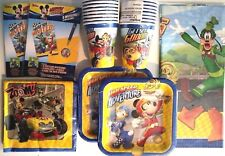 MICKEY MOUSE & Roadster Racers Disney Birthday Party Supply Kit w/ Invitations