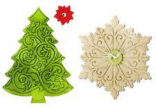 Sizzix Bigz Christmas Tree & Snowflake & Bonus Emboss folder #660669 MSRP $19.99