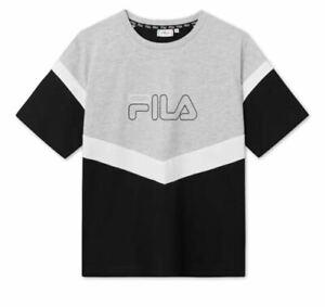 Fila Donna T-shirt 683162 I85 Nero/grigio Autunno/Inverno 2020
