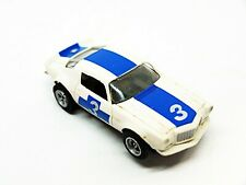 AFX Aurora Chevy Camaro #3 HO Slot Car White Blue Nice