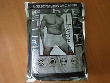 3 Pack Men's Performance Boxer Briefs Hype Size  XL one Black / two Gray