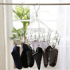 Practical 20clips Underwear Clothes Airer Dryer Hanger Wire Clip Clothes Rack
