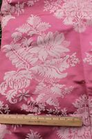 """Lovely Antique c1900 Pink Floral French Silk Home Dec Fabric Textile~46""""LX52""""W"""