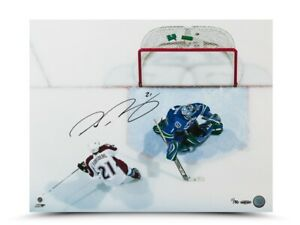 """Peter Forsberg Signed Autographed 16X20 Photo """"Back of the Net"""" Avalanche #/50"""