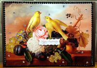Luxury Handmade Personalised Large A4 ANNIVERSARY CARD Love Birds