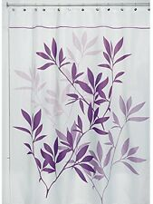 InterDesign 180 X 200 Cm Leaves Shower Curtain, Purple Brand NEW