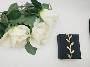Gold leaf ribbon perfect for gift wrapping wedding decor or crafts LBF009