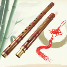 Traditional Handmade D Key Chinese Musical Instrument Bamboo Flute Dizi+Bag+Knot