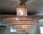 """HUGE 30"""" Oval 6 Tier Vintage Hollywood Regency Wedding Cake Crystal Chandelier"""