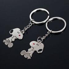 Fashion Couple Pendant pup Pendant Key Chain Keyring Ring Keyfob Love Gift