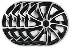 4 Stück Radkappen Radzierblenden 15 Zoll Schawrz Silber für Nissan