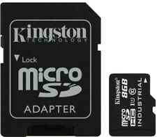 Kingston Micro SD 8GB SDHC Memory Card Class 10 - SD ADAPTER (INDUSTRIAL GRADE)