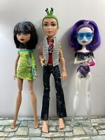 Monster High - 3 Doll Lot (no shoes) - Used