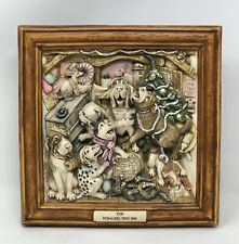 Harmony Kingdom Picturesque The Howling Inn Singing Dogs Christmas Tree Plaque