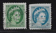 "Canada Stamps — 1954, Queen Elizabeth II #338 ""With Error / Color"" — See Scan"