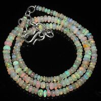 """38 Ctw 1Necklace 2to4.5mm17""""Beads Natural Genuine Ethiopian Welo Fire Opal RR568"""