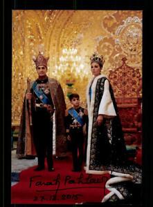 Farah Pahlavi Kaierin von Persien Original Signiert # BC 174994