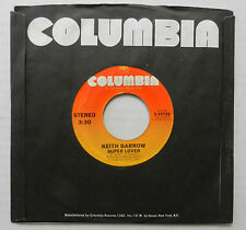 KEITH BARROW 45 Super Lover / You Know You Wanna Be Loved COLUMBIA VG++ #B432