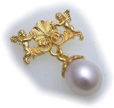 Anhänger echt Silber 925 Engel vergoldet mit Perle Sterlingsilber Qualität