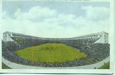 Football Game Harvard Statdium Cambridge MASS. USA 1933 postcard