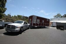 Tiny House RED BARN CARAVAN W/ LOFT 10 X 30 330 sq ft finished kitchen & Bath