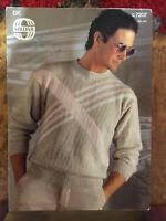 Mens Knitting Patterns.jumpers.size 36-44 inch chest.DK.Sirdar