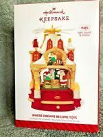 "Hallmark Keepsake ""WHERE DREAMS BECOME TOYS"" Magic light sound & motion 2014 IOB"