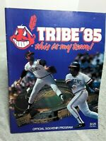 1985 Cleveland Indians Official Program vs Texas Rangers Tribe 85 vintage