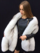 Double Sided Blue Fox Fur Stole King Size Boa  ~70 inch. Two Full Pelts Collar