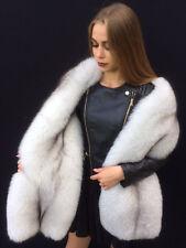 Double Sided Blue Fox Fur Stole King Size Boa  ~70 inch. Two Full Pelts Collar