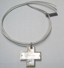 Pendente a croce Nomination in acciaio oro 18k e madreperla