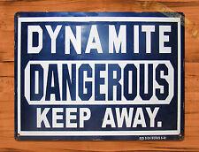 "TIN SIGN ""Dynamite Danger Keep Away"" Construction Retro Art Wall Decor"